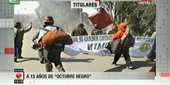 Video titulares de noticias de TV – Bolivia, mediodía del miércoles 17 de octubre de 2018