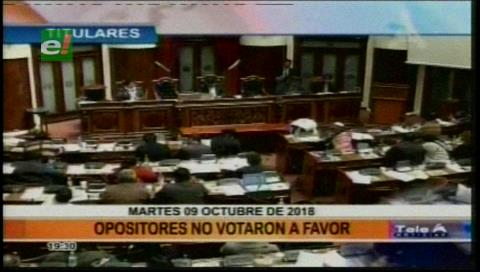 Video titulares de noticias de TV – Bolivia, noche del martes 9 de octubre de 2018