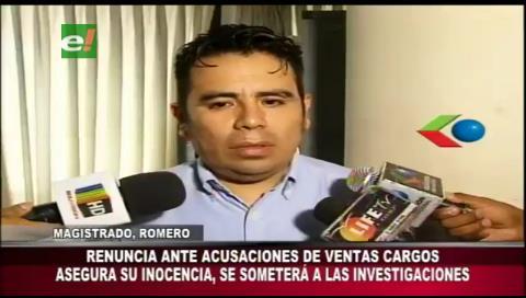 Santa Cruz: Renuncia delegado de la Magistratura acusado de cobros en Derechos Reales