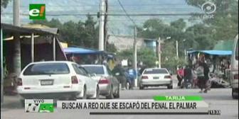Tarija: Reo se fugó de la cárcel de El Palmar