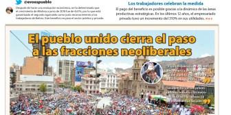 Portadas de periódicos de Bolivia del jueves 11 de octubre de 2018