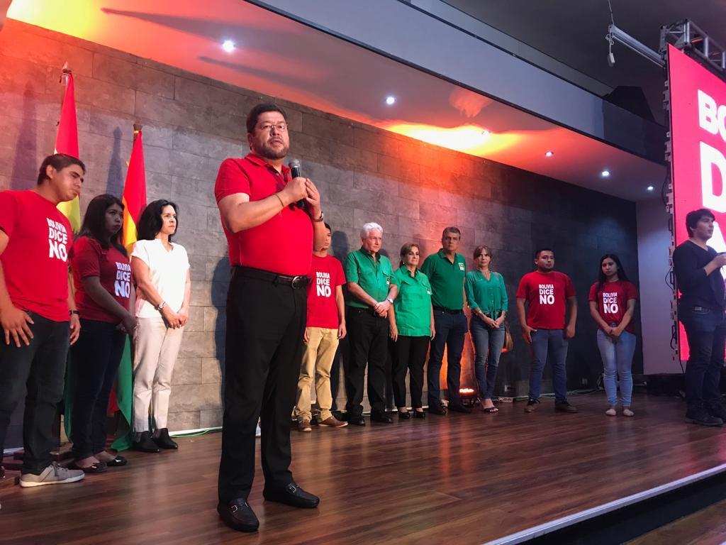 """Samuel Doria Medina: """"somos el resultado de la victoria del pueblo sobre el continuismo"""""""