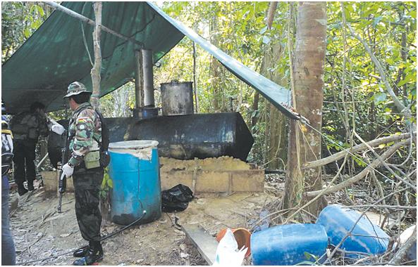 Resultado de imagen para Fuerza antidroga destruye cuatro fábricas de producción de cocaína en Cochabamba
