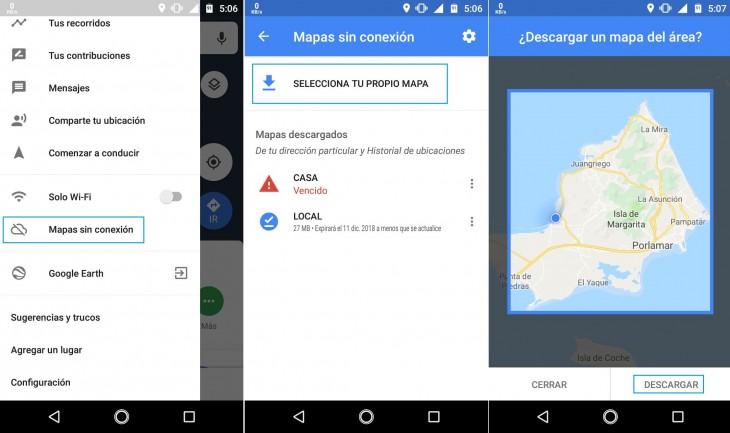 Google Maps Offline Download on