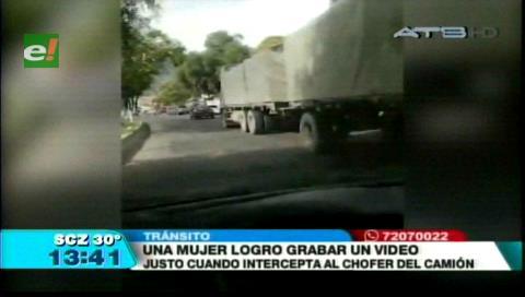 Mujer logra grabar la persecución al camión que atropella al hijo del Ministro Romero