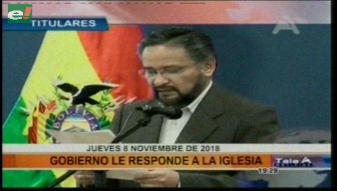 Video titulares de noticias de TV – Bolivia, noche del jueves 8 de noviembre de 2018