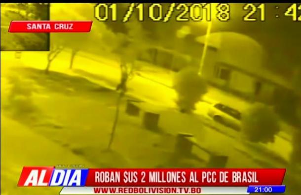 Roban $US 2 millones al PCC de Brasil