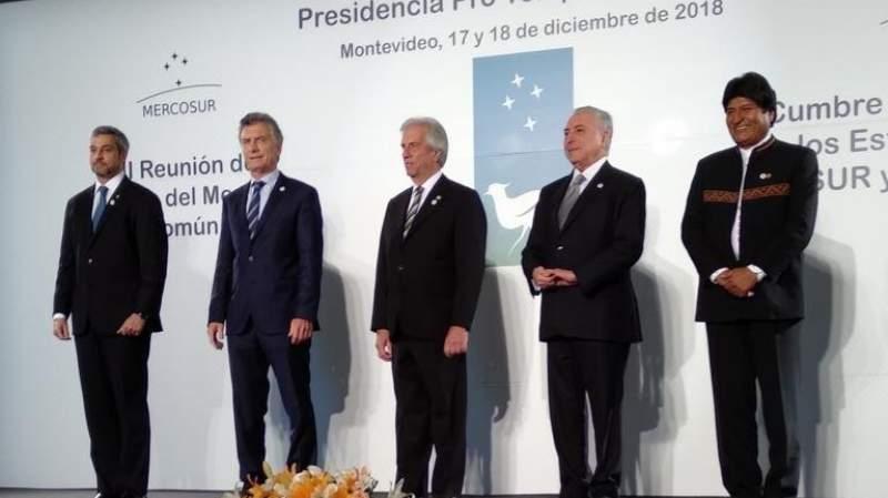 Uruguay recibe Cumbre del Mercosur y traspasa presidencia