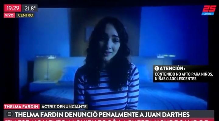 Thelma Fardin denunció que fue violada por Juan Darthés.