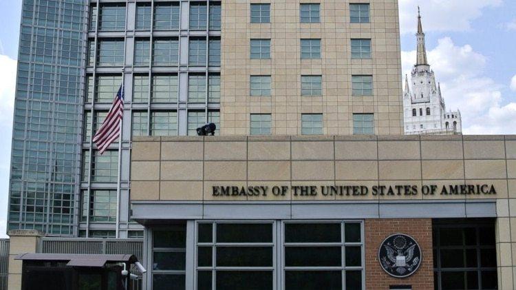 Embajada de EEUU en Moscú (AP)