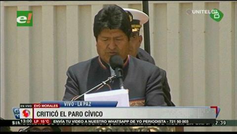 """Evo Morales: """"Fue el pueblo el que rechazó un supuesto paro yendo a trabajar"""""""