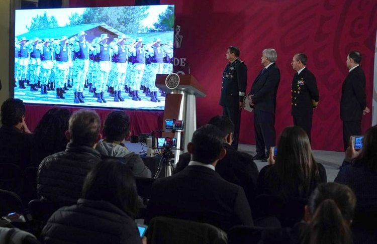 López Obrador presentó su proyecto de Guardia Nacional. (Foto: Presidencia de México)