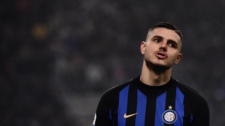 Mauro Icardi dejó de ser el capitán del Inter (Marco BERTORELLO / AFP)