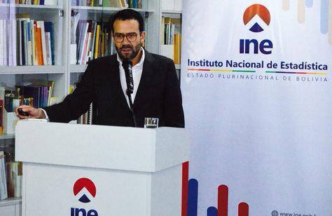 El director del Instituto Nacional de Estadística, Santiago Farjat.