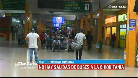 No hay salidas de buses a la Chiquitanía