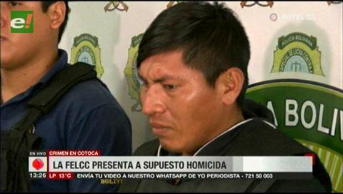 La FELCC presenta a homicida confeso de crimen en Cotoca