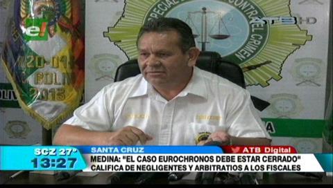 Director de la Felcc califica de ilegal, la pesquisa contra efectivos en caso Eurochronos