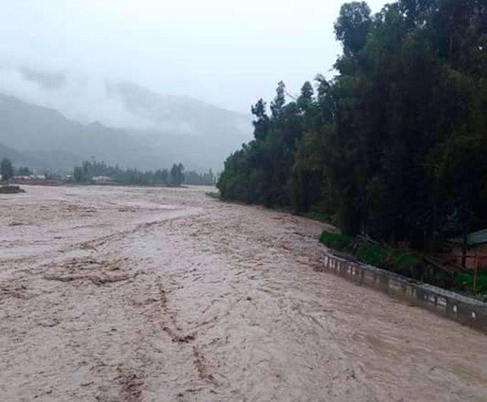 El cauce del río aumenta en época de lluvia.