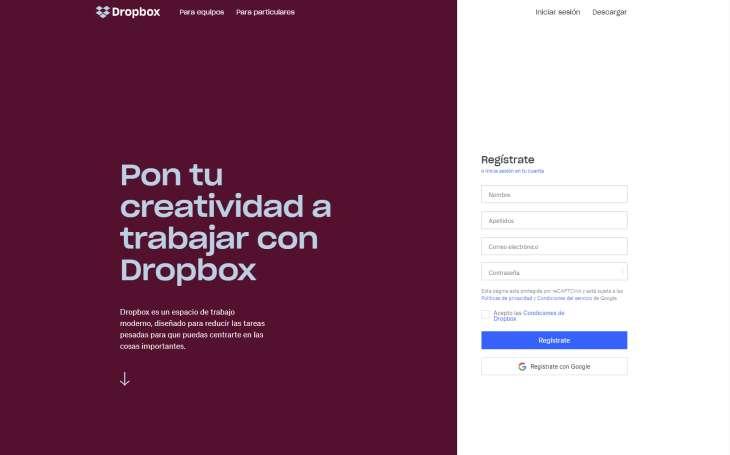 Dropbox-Inicio