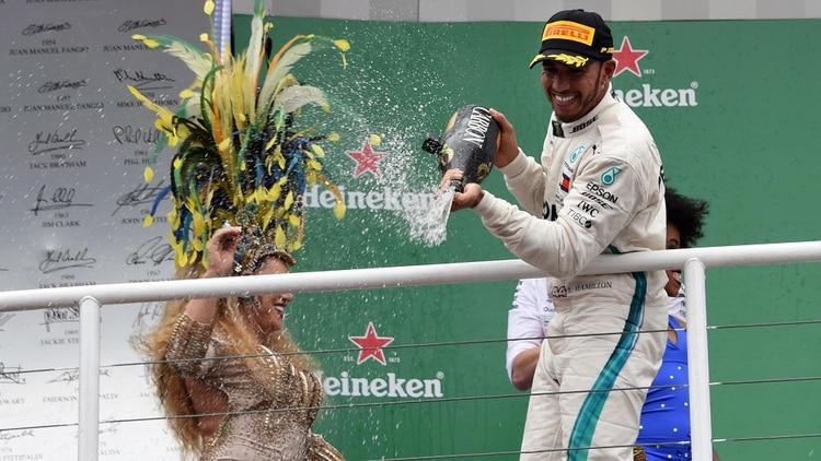 Lewis Hamilton, actual campeón de la Fórmula 1 (AFP)
