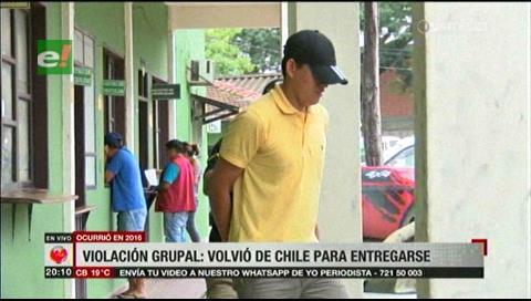 Buscado por violación grupal retorna de Chile y se entrega