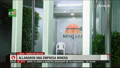 Allanan una empresa en Santa Cruz relacionada con la minería ilegal