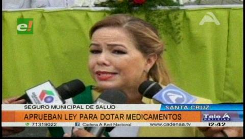 Santa Cruz: Aprueban ley para dotar de medicamentos al Seguro Municipal de Salud