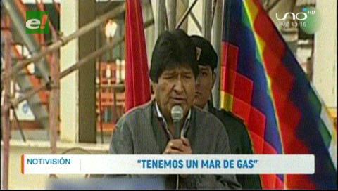 Presidente de Bolivia confirma reservorio gigante de gas en Tarija