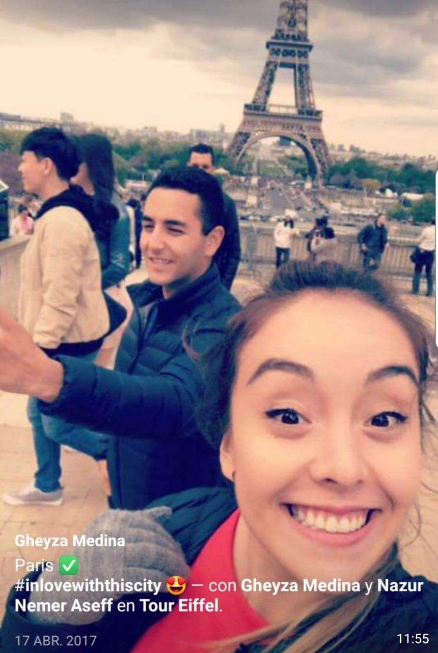 Circulan en las redes fotos de la hija del coronel Medina en viajes de lujo por el mundo