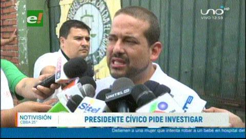 Líder cívico cruceño ratifica su pedido de destitución del Cnel. Medina