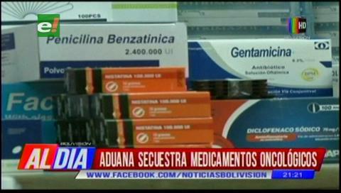 Aduana secuestra medicamentos oncológicos en Santa Cruz