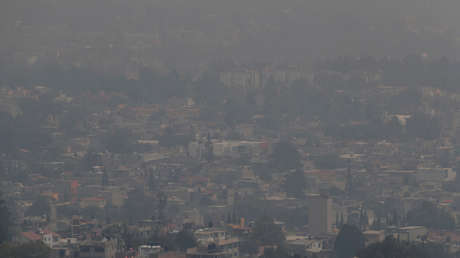 Altos niveles de contaminación en la Ciudad de México, 13 de mayo de 2019.