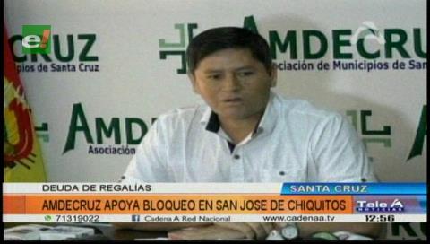 Amdecruz respalda bloqueo en San José de Chiquitos por las regalías