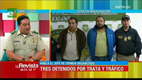 Felcc explica el operativo para dar con tres sujetos en caso de trata y tráfico