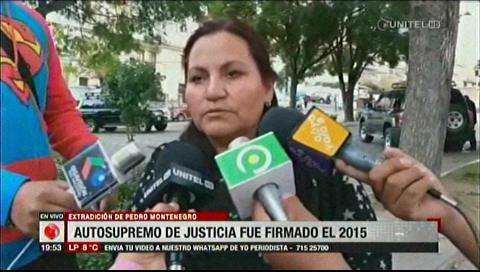 Exmagistrada dice que autosupremo de extradición de Montenegro fue en 2015