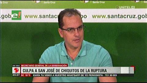 Regalías: Gobernación cruceña culpa a San José de Chiquitos por la ruptura del acuerdo