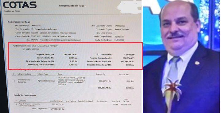 Gerente de Cotas recibió millonaria liquidación tras renuncia por escándalo del robo