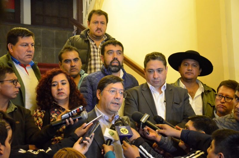 Arce Catacora ratifica que Tarija no requiere del Gobierno para resolver