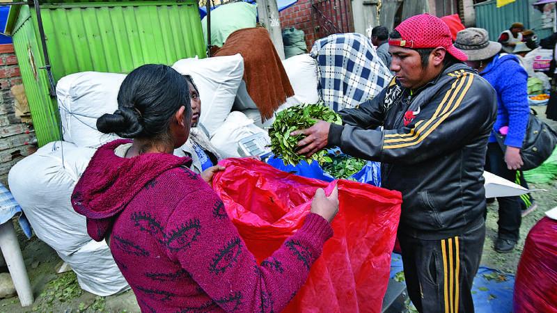 Mercado ilegal vende taque de coca de Bs 2.100 a 2.800 con sello de Digcoin