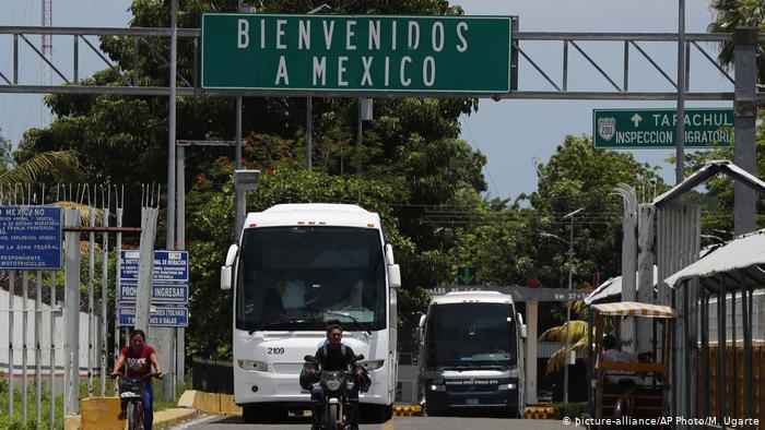 Frontera de México con Guatemala, en el sur del país.