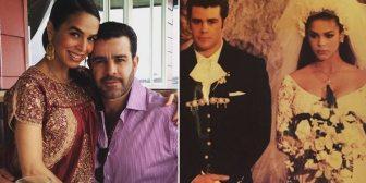 Bibi Gaytán y Eduardo Capetillo celebran 25 años de su boda, fue la primera transmitida en vivo en México