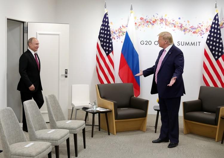 Trump y Putin se reunieron en el G20 (Reuters)