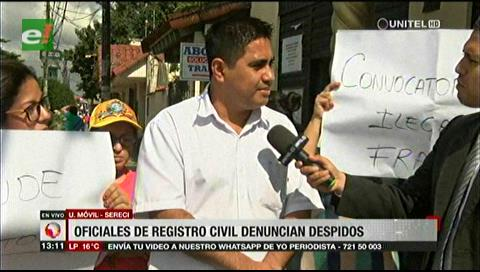 Denuncian despido del 80% de Oficiales de registro civil, temen fraude electoral