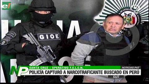 Capturan a uno de los narcos más buscados en Perú