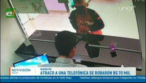 Delincuentes asaltan oficina de Entel en Ascensión de Guarayos y se llevan Bs 70.000