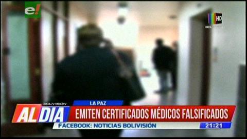 Denuncian que se emiten certificados médicos falsificados