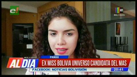 Ex Miss Bolivia Universo ratifica su candidatura por el MAS en Pando