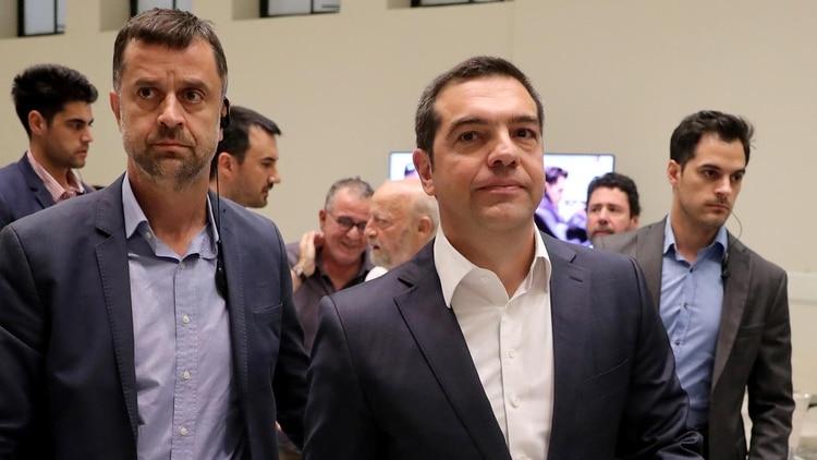 Alexis Tsipras reconoció la derrota y felicitó a Kyriakos Mitsotakis (REUTERS/Alkis Konstantinidis)