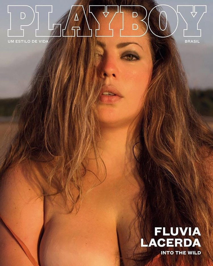 La portada de Playboy Brasil en diciembre de 2016 en la que Fluvia fue protagonista sin pudor