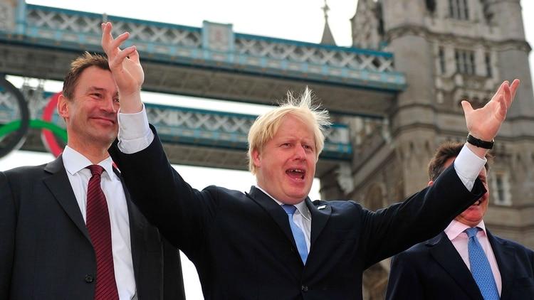 Jeremy Hunt y Boris Johnson (Shutterstock)